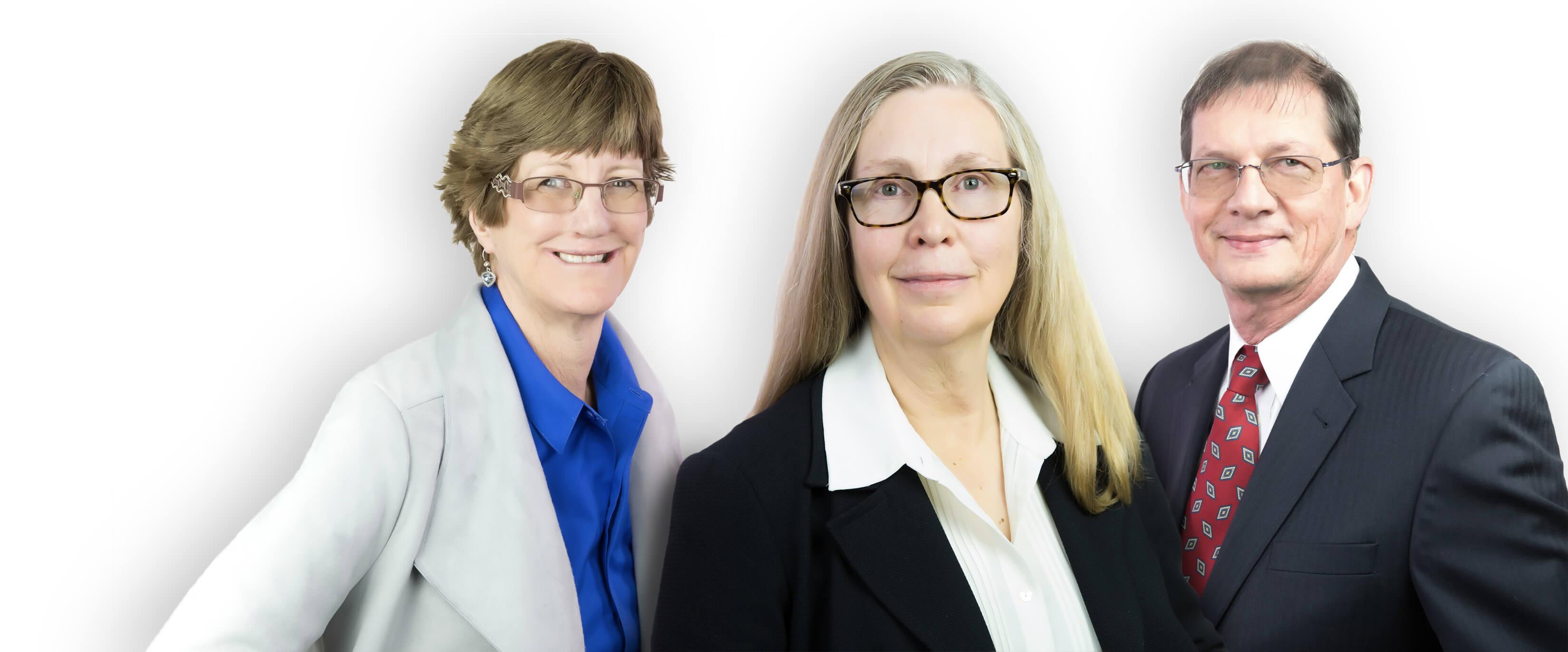 Anne Morgan, Sharon DeMonsabert, and Manie Lemmer